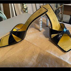 Giuseppe Zanotti Black with Pearl Heels
